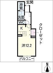 メゾン ドゥ エスポワール[1階]の間取り