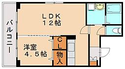 レヴェールメゾン[4階]の間取り