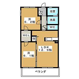 静岡県静岡市駿河区丸子6丁目の賃貸マンションの間取り