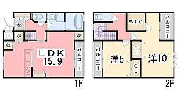 OA FLAT飾東[B105号室]の間取り