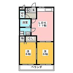 AKIRA21ST[4階]の間取り
