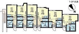 神奈川県横浜市磯子区岡村4の賃貸アパートの間取り