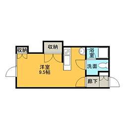 メープルルーム[2階]の間取り