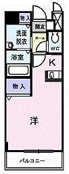 フレ・エピナール[1階]の間取り
