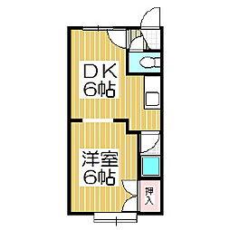 ラフィーネB[2階]の間取り