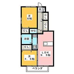 グランシャリオ松井[1階]の間取り