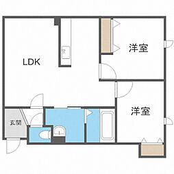 タウンハウス西野参番館 1階2LDKの間取り