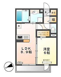 エポラール東別院[2階]の間取り