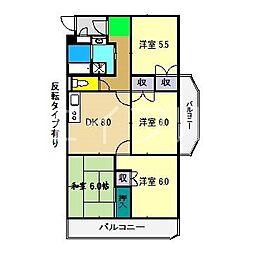モイドープ和田[4階]の間取り