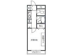 パピヨン大南[3階]の間取り