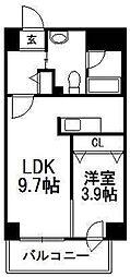 LEE東札幌B[2階]の間取り