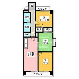 エスポワール池花[2階]の間取り