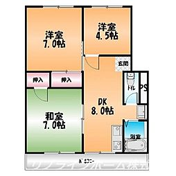 宇野ビル3[2階]の間取り