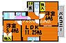 間取り,2LDK,面積50.1m2,賃料5.0万円,JR吉備線 吉備津駅 徒歩7分,JR吉備線 備前一宮駅 徒歩28分,岡山県岡山市北区吉備津