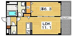 アンプルールフェール[1階]の間取り