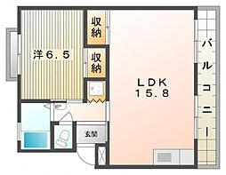 第1林マンション[5階]の間取り
