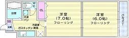 JR仙山線 東照宮駅 徒歩11分の賃貸マンション 4階2Kの間取り