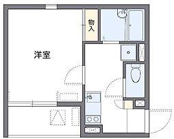 神奈川県横浜市港北区北新横浜1丁目の賃貸アパートの間取り