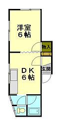 サンハイツ(若松)[1階]の間取り