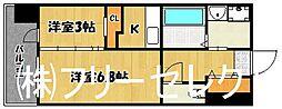 アルファシオベイス博多[6階]の間取り