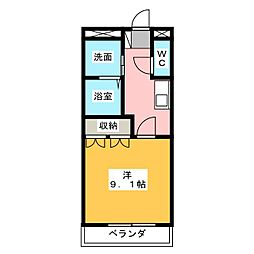 アソシアード18[1階]の間取り