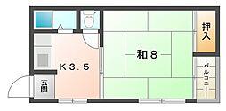 浜町ハイツ[3階]の間取り