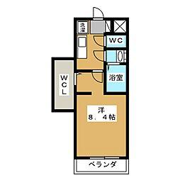 プリモベント円町[5階]の間取り