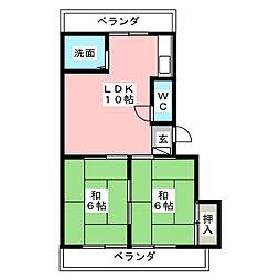 コーポサクセス[2階]の間取り