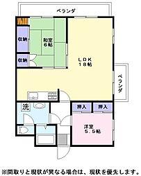 ラフェスタ彦根2[2階]の間取り