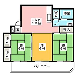 中原ビル[3階]の間取り
