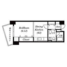 北海道札幌市中央区北四条西13丁目の賃貸マンションの間取り