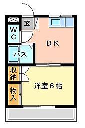 桜ハイツ[303号室]の間取り