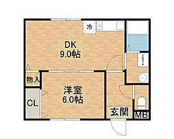 トモエハイツ7号館[2階]の間取り