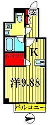 アセント Y 立川[502号室]の間取り