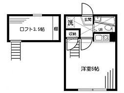 オーガスタハイツ[2階]の間取り