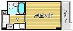 東京都江東区富岡2丁目の賃貸マンションの間取り