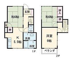 [一戸建] 千葉県鎌ケ谷市東中沢3丁目 の賃貸【/】の間取り