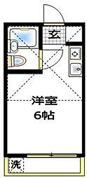 コーポ由利[2階]の間取り