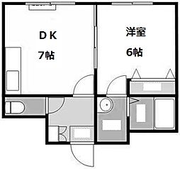 北海道札幌市豊平区豊平一条8丁目の賃貸マンションの間取り