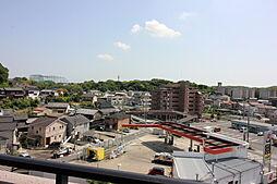 お部屋からの眺望です。高い建物がないので開放感があります。