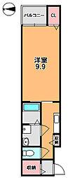 ベルオーブIII[4階]の間取り