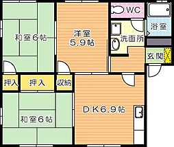 フレグランスM C棟[1階]の間取り