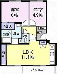 大阪府高石市西取石6の賃貸マンションの間取り