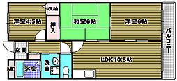 シェーネスハイム日野谷[3階]の間取り