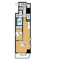 プリフェラブル栄[10階]の間取り
