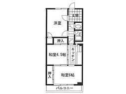 兵庫県神戸市灘区下河原通3丁目の賃貸マンションの間取り