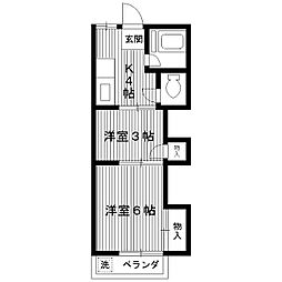 東京都練馬区高松1丁目の賃貸アパートの間取り