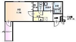 フォーリーブス33B棟[1階]の間取り