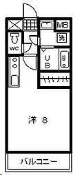 ローズハウス[405号室]の間取り
