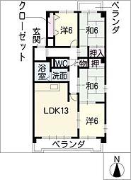 インテリジェント高間台II[3階]の間取り